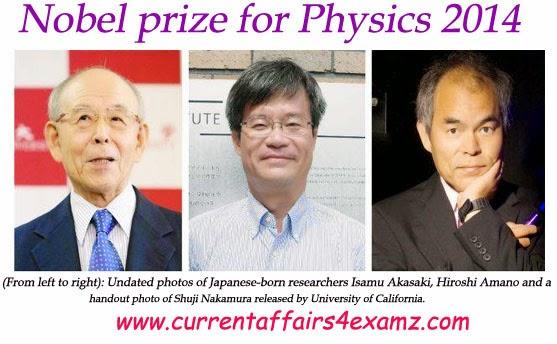 Nobel+Prize+for+Physics+2014