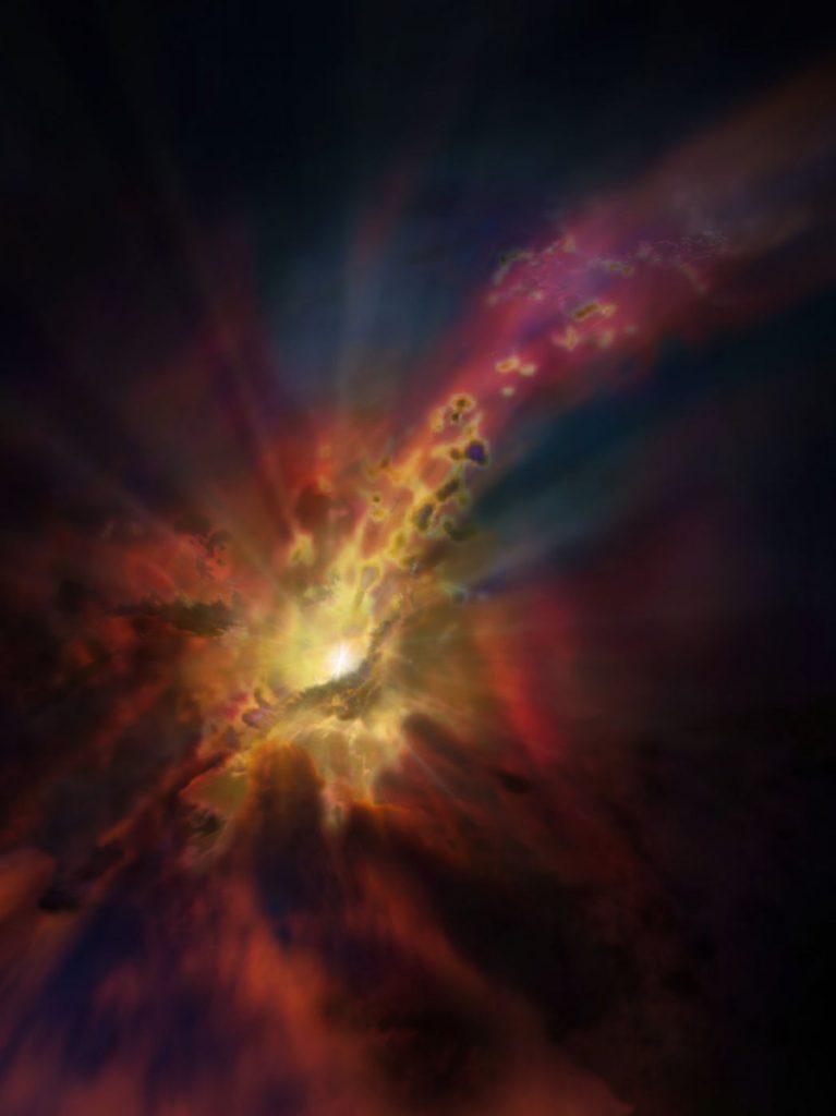 abell-2597-black-hole-rain-concept